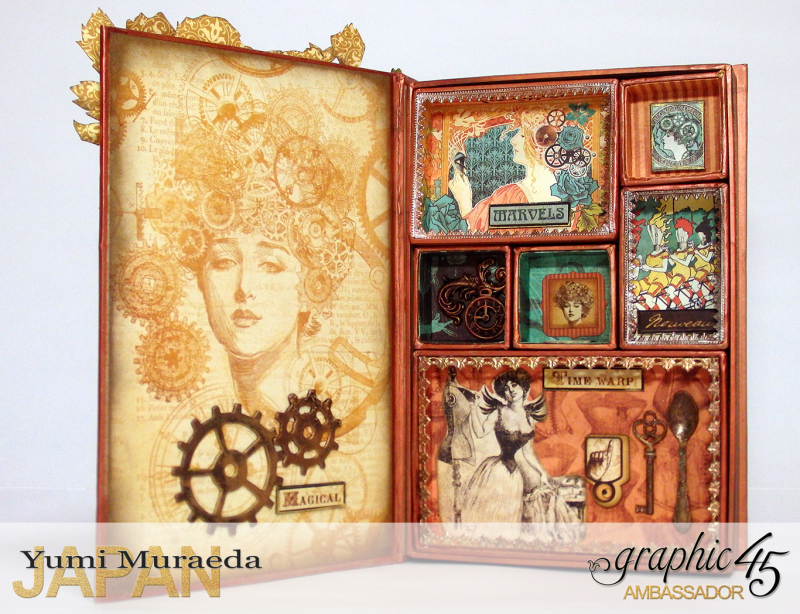 2Mrs Flies Accesoory Case, Steampunk Debutante, by Yumi Muraeda, Product by Graphic 45.