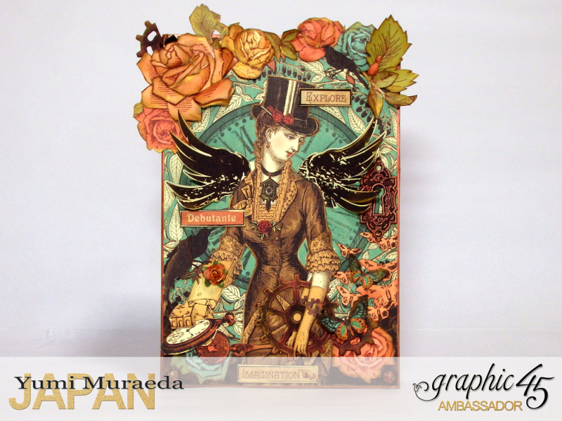 1Mrs Flies Accesoory Case, Steampunk Debutante, by Yumi Muraeda, Product by Graphic 45.