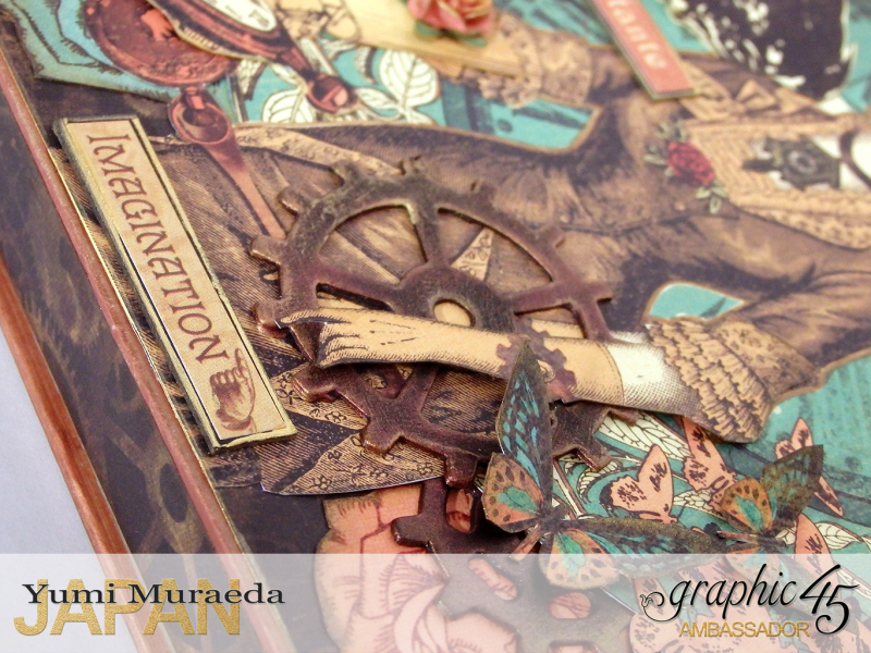 13Mrs Flies Accesoory Case, Steampunk Debutante, by Yumi Muraeda, Product by Graphic 45.