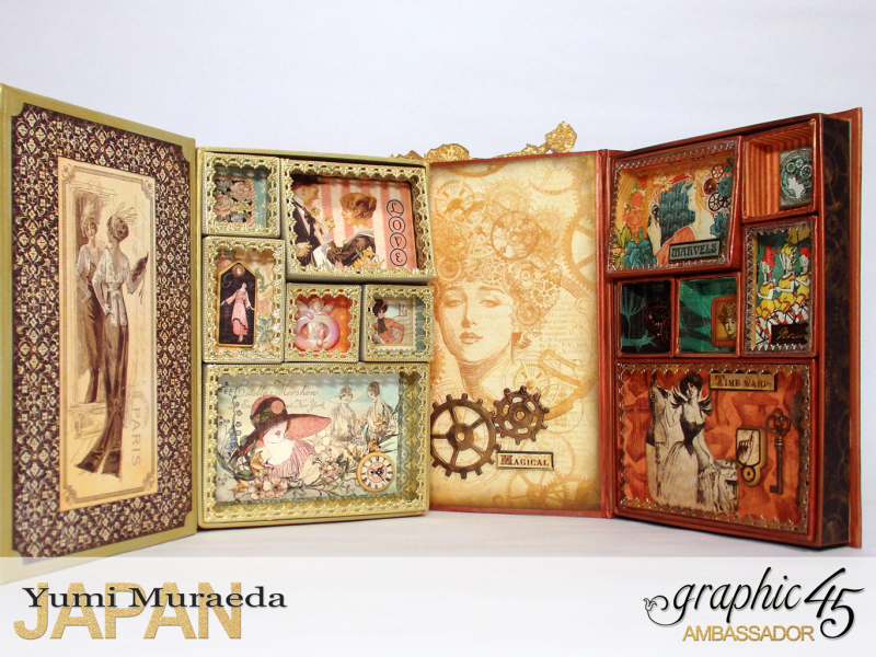 4My Lady Accesoory Case, A Ladies Diary, by Yumi Muraeda, Product by Graphic 45.