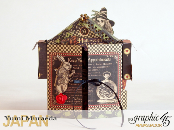 1 Alice's Odd Tea House, Hallowe'en Wonderland, by Yumi Muraeda, Product by Graphic 45.