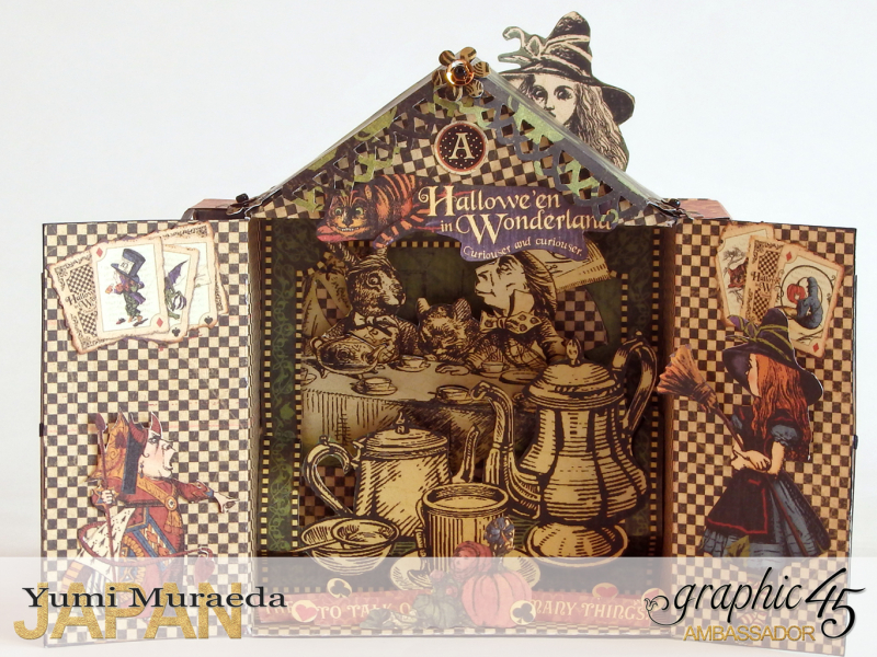 5Alice's Odd Tea House, Hallowe'en Wonderland, by Yumi Muraeda, Product by Graphic 45.