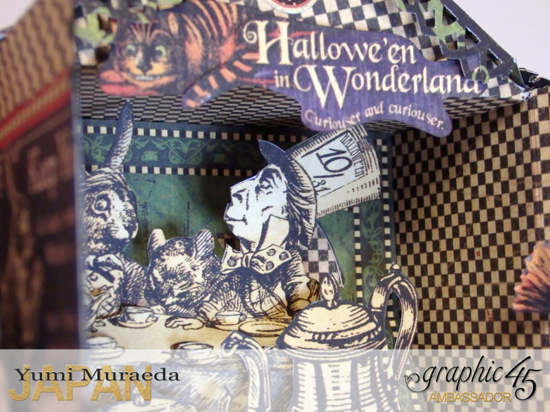 Alice's Odd Tea House16, Hallowe'en Wonderland, by Yumi Muraeda, Product by Graphic 45.