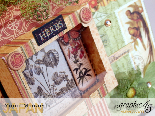 10Secret Gaden Museum, Botanicabella, by Yumi Muraeda, Product by Graphic 45.
