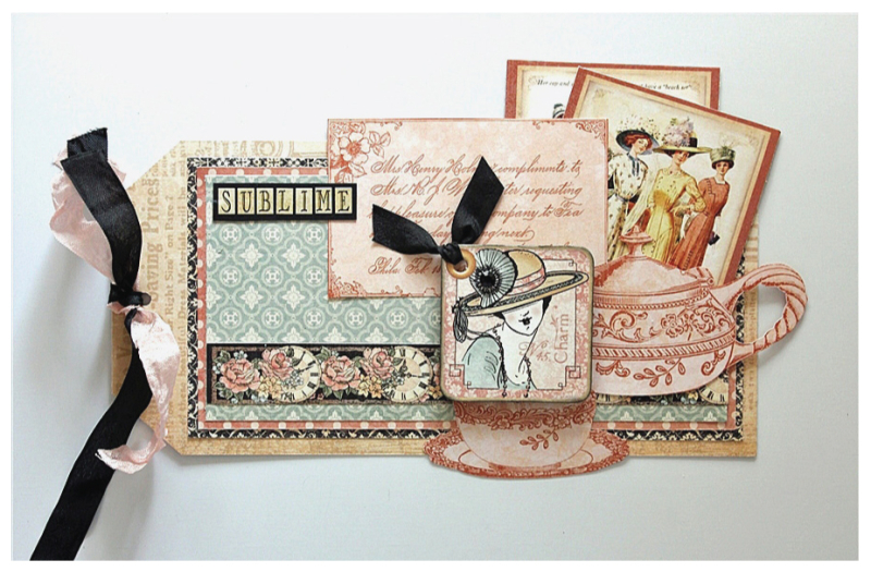 Try this A Ladies' Diary 'Sublime' tag project sheet #graphic45