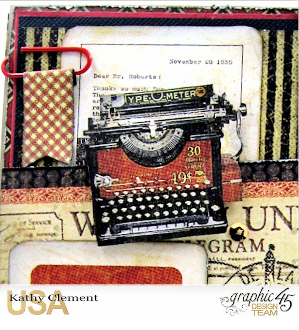 Masculine Belated Birthday Card Communique by Kathy Clement Product by Graphic 45 Photo 5