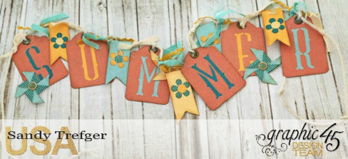 Summer Banner, Voyage Beneath the Sea, by Sandy Trefger, Product by Graphic 45, Photo 3