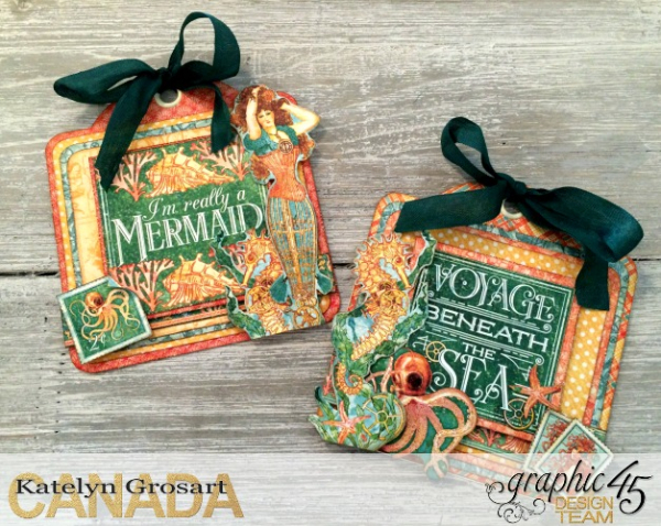 Beach Tags, Voyage Beneath the Sea, Square Tags, by Katelyn Grosart, Product by Graphic 45, Photo 6