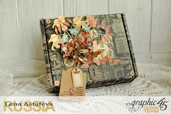 Box-DIY Craft paper-Tutorial by Lena Astafeva-product by Graphic 45 Photo5