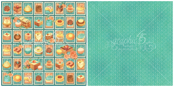 3- Postage Patisserie, a page from Cafe Parisian, a new collection from Graphic 45