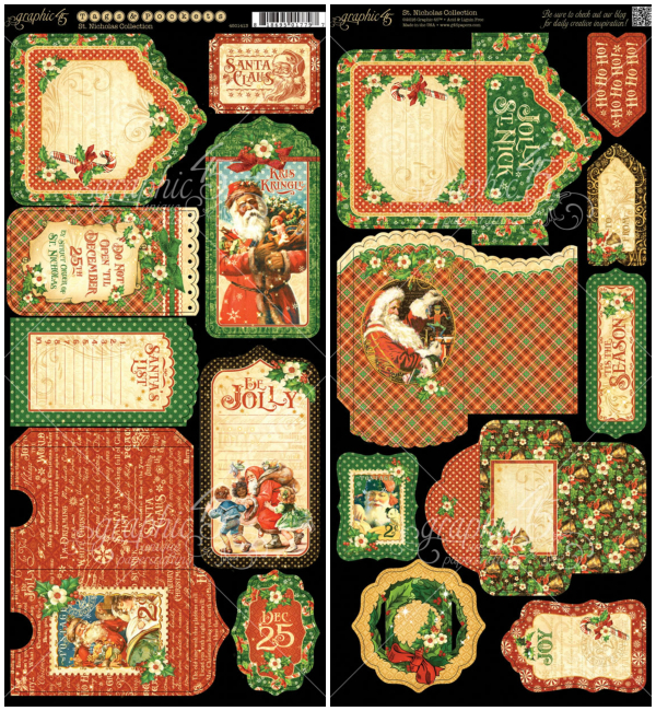 St. Nicholas Cardstock Tags & Pockets, from St. Nicholas, a new collection from Graphic 45
