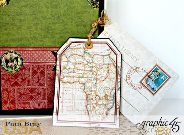 Journey Card, Safari Adventure Collection by Pam Bray, Product by Graphic 45, Photo 9_9924