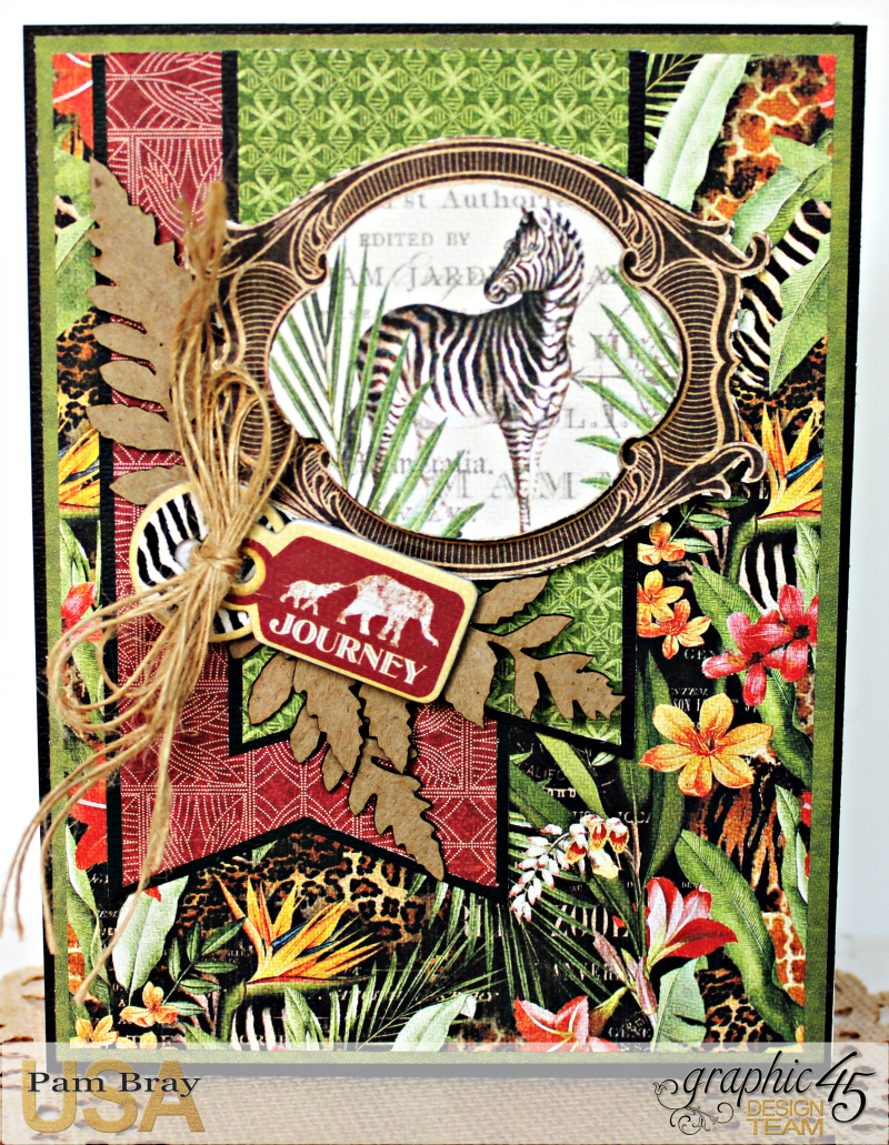 Journey Card, Safari Adventure Collection by Pam Bray, Product by Graphic 45, Photo 1_9928