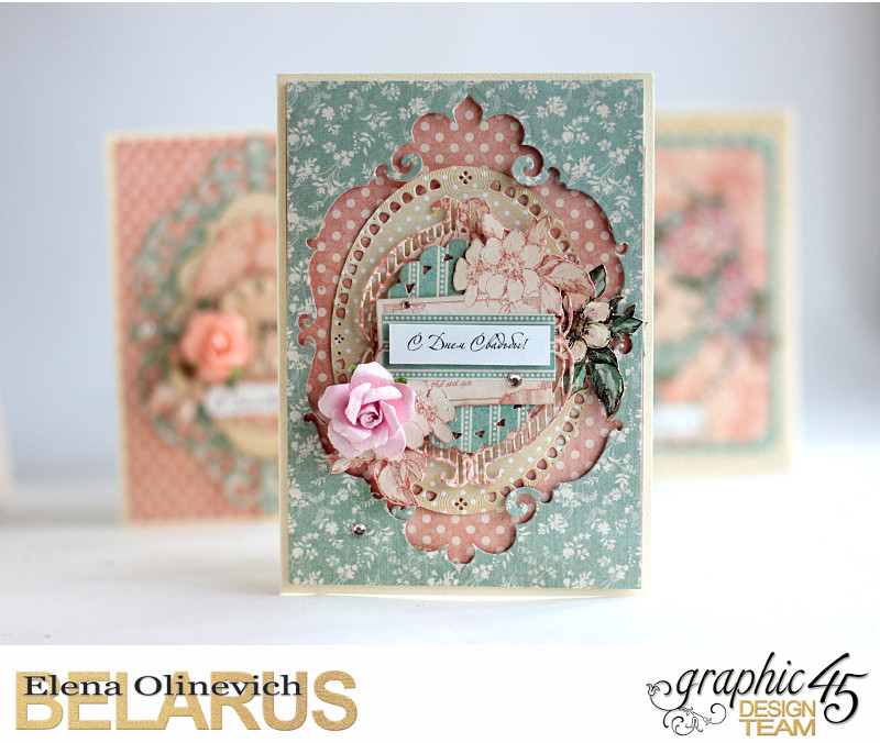 Wedding Card, by Elena Olinevich, Ladies Diary, Product by Graphic 45, Photo3
