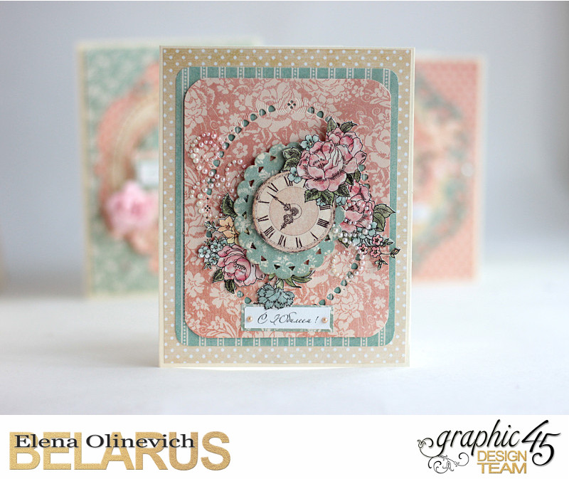 Wedding Card, by Elena Olinevich, Ladies Diary, Product by Graphic 45, Photo5