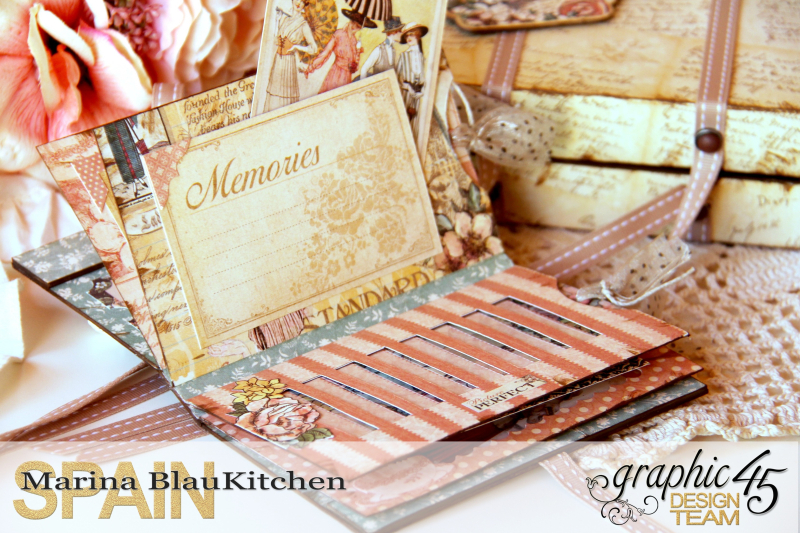 Box and Mini Album A Ladies Diary Tutorial by Blaukitchen Product by Graphic 45 photo 11
