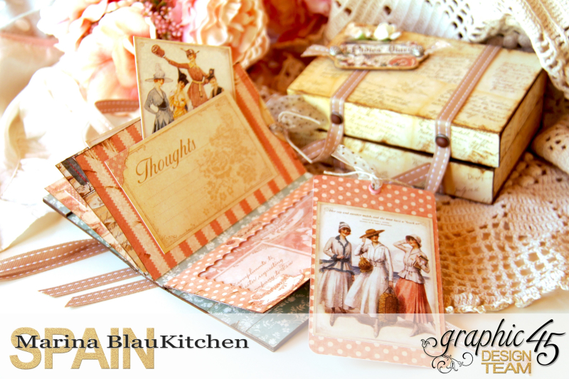 Box and Mini Album A Ladies Diary Tutorial by Marina Blaukitchen Product by Graphic 45 photo 14