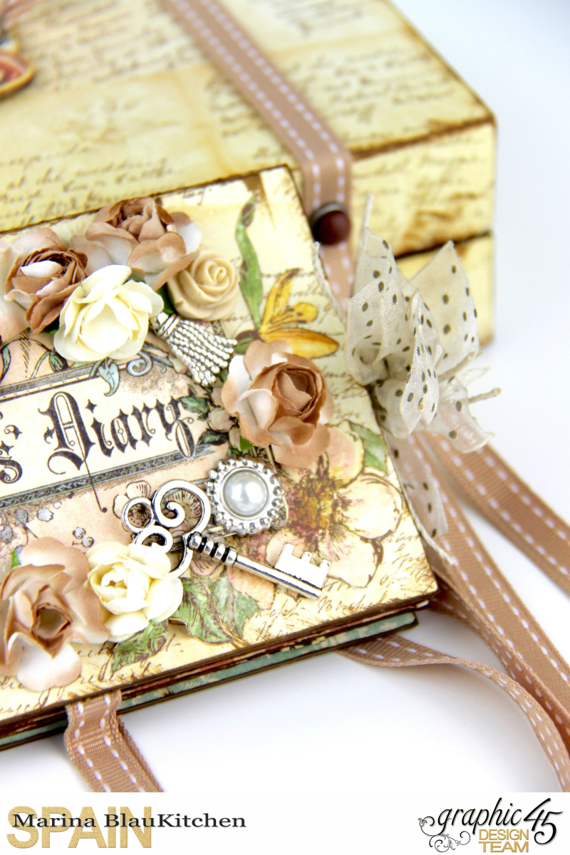 Box and Mini Album A Ladies Diary Tutorial by Marina Blaukitchen Product by Graphic 45 photo 16