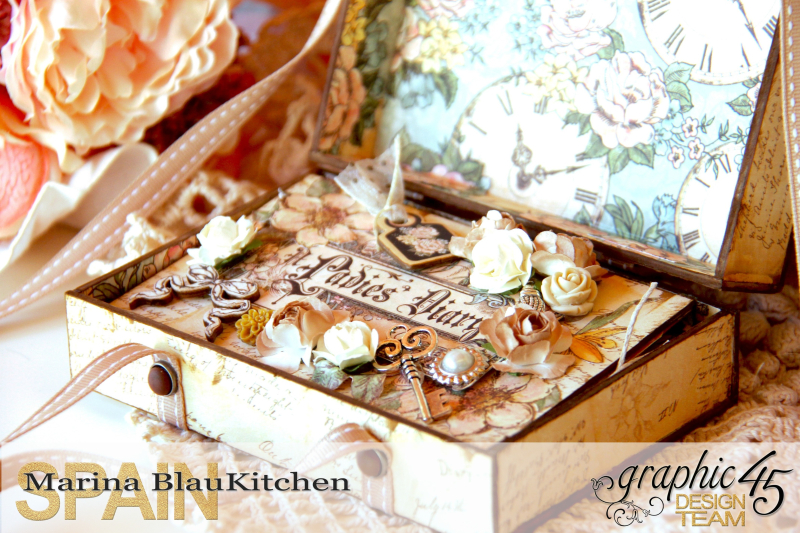 Box and Mini Album A Ladies Diary Tutorial by Marina Blaukitchen Product by Graphic 45 photo 3