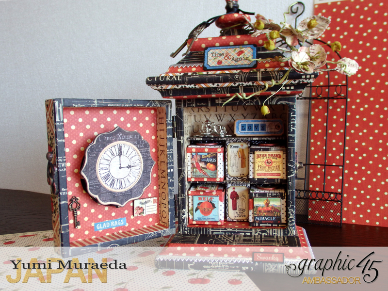 7Up Cycle Graphic45 DIY Craftpaper with Times Nouveau Secret Clock by Yumi Muraeada Product by Graphic 45 Photojpg