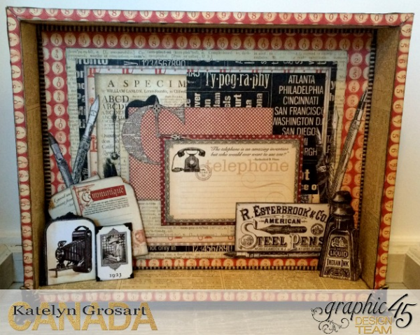 Letter Tray Upcycle, DIY Craft Rolls, Communique, Tutorial by Katelyn Grosart, Product by Graphic 45, Photo 1