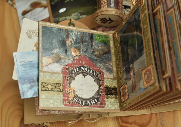 Square Tads_Pocket Album- Safari Adventure,Tutorial by Lena Astafeva-products by Graphic 45-Photo-1