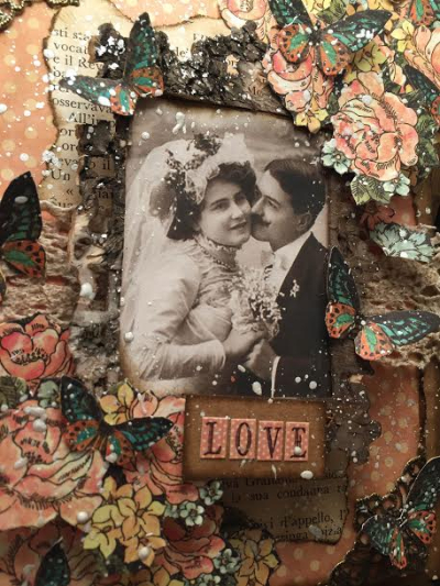 Wedding couple, a lady's diary, Tutorial by Nico Scrap, Product by Graphic 45, Photo 1