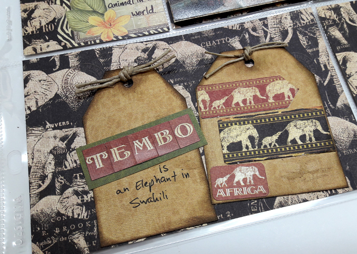 Sheldrick Elephant Orphanage Pocket Scrapbooking Page, Safari Adventures, by Einat Kessler, Product by Graphic 45, photo 7