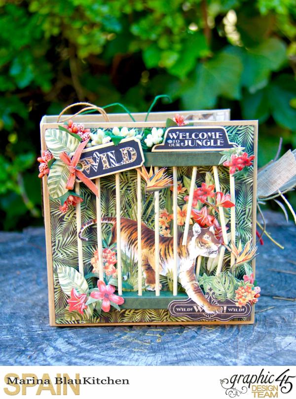 Square Tag_Pocket Travel Album Safari Adventure Tutorial by Marina Blaukitchen Product by Graphic 45 photo 9
