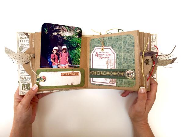 Square Tag&Pocket Travel Album Safari Adventure Tutorial by Marina Blaukitchen Product by Graphic 45 photo 16