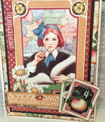 Back to School Card, Children's Hour, Card, Tutorial by Katelyn Grosart, Products by Graphic 45 - Beauty Shot 3