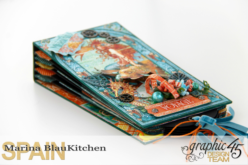 Summer Album Voyage Beneath the Sea by Marina Blaukitchen Product by Graphic 45 photo 3