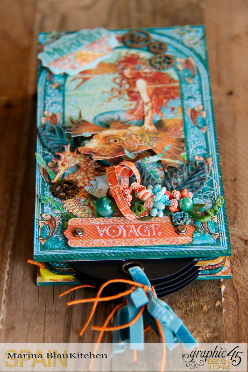 Summer Album Voyage Beneath the Sea by Marina Blaukitchen Product by Graphic 45 photo 17