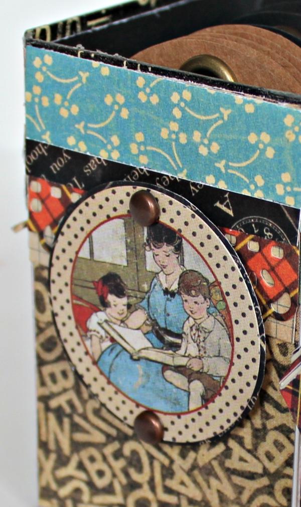 Graphic 45 ABCPrimer Teacher Desk Organizer - Pam Bray - tutorial19_0576_0716