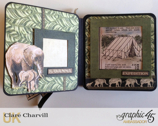 Safari Adventure Square Tag Album 9 Clare Charvill Graphic 45
