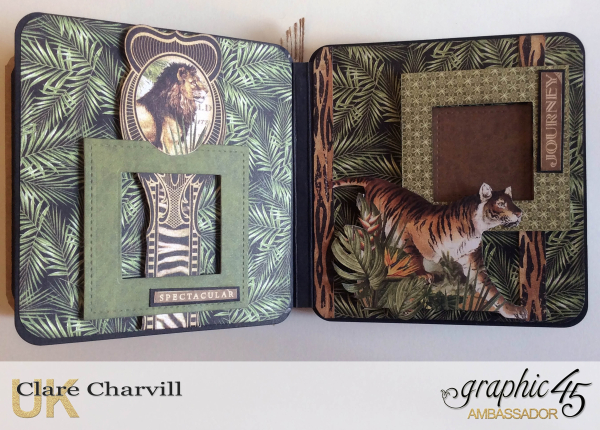 Safari Adventure Square Tag Album 11 Clare Charvill Graphic 45