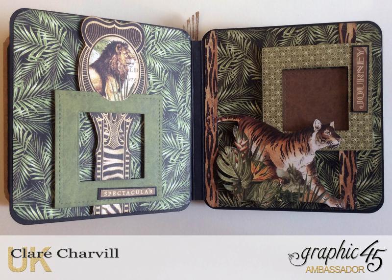 Safari Adventure Square Tag Album 11 Clare Charvill Graphic 45