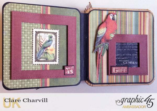 Safari Adventure Square Tag Album 12 Clare Charvill Graphic 45