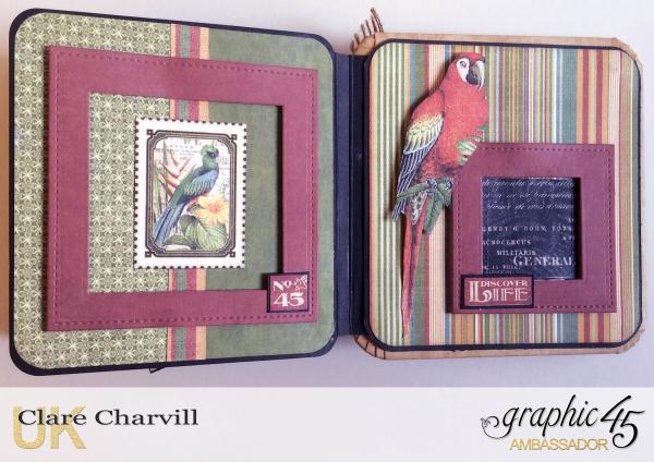Safari Adventure Square Tag Album 12 Clare Charvill Graphic 45