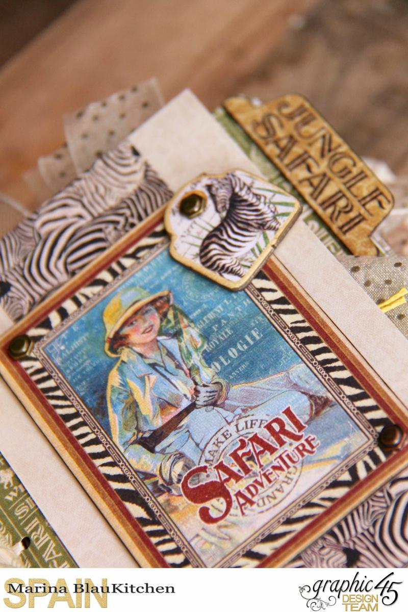 Safari Adventure Travel 6_x4_ Album by Marina Blaukitchen Product by Graphic 45 photo 14