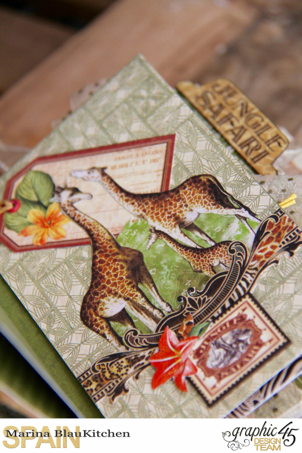 Safari Adventure Travel 6_x4_ Album by Marina Blaukitchen Product by Graphic 45 photo 1