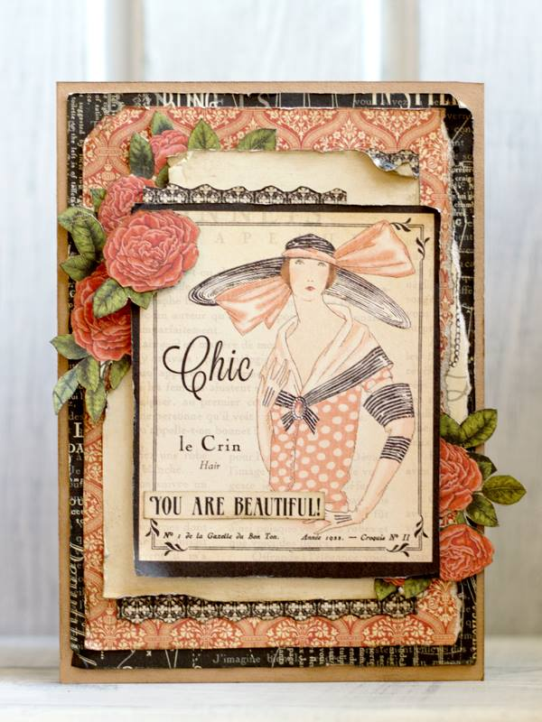 Nataliya Serova made this gorgeous card and shared on our Facebook page #graphic45