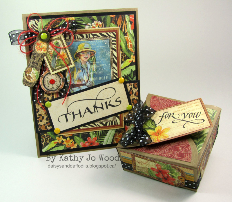 'Thanks' Safari Adventure gift set by Kathy Jo shared on Twitter! #graphic45