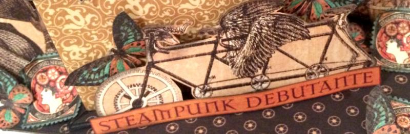Steampunk Box _ Mini Album, Steampunk Debuntante DCE, By Katelyn Grosart, Product By Graphic 45, Photo 1