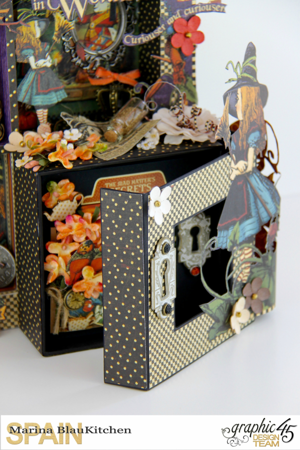 Dimensional Boxes Halloween in Wonderland Tutorial by Marina Blaukitchen Product by Graphic 45 photo 11