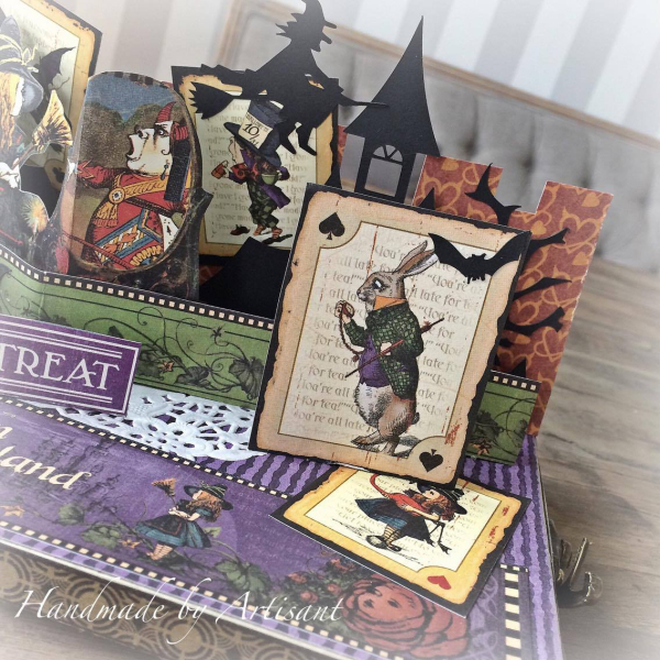 Hallowe'en in Wonderland pop up box for Graphic 45 by Aneta Matuszewska, photo 2