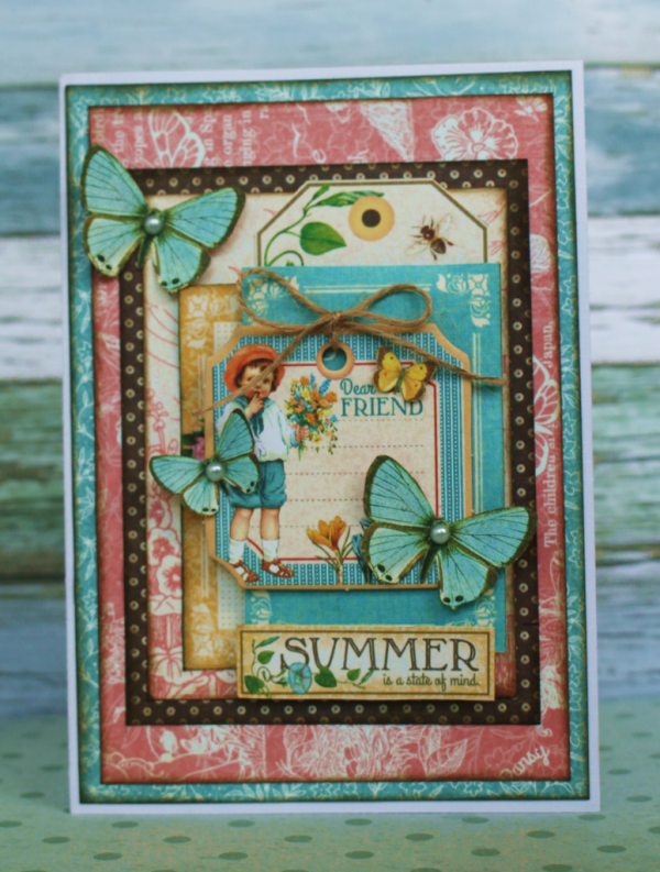 """""""Summer is a State of Mind"""" Children's Hour card by Romy Veul #graphic45"""