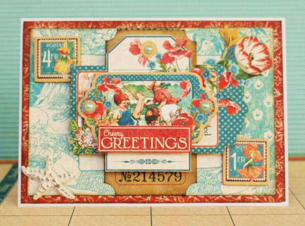 """""""Cheery Greetings"""" Children's Hour by Romy Veul #graphic45"""