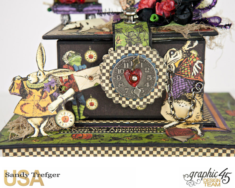 Curiouser Curiouser Trinket Box, Halloween in Wonderland, Tutorial by Sandy Trefger, Product by Graphic 45, Photo 007
