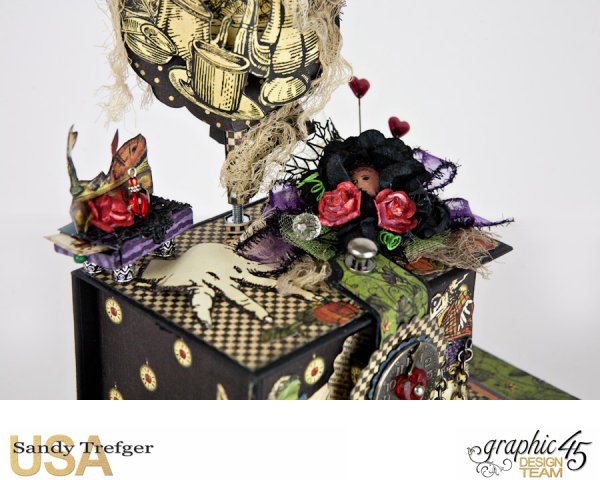 Curiouser Curiouser Trinket Box, Halloween in Wonderland, Tutorial by Sandy Trefger, Product by Graphic 45, Photo 002